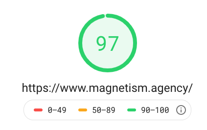This is my new Google Page Speed score, which is 97/100
