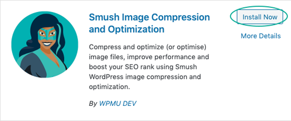 Install your Smush plugin.